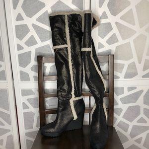 Calvin Klein Knee / Versatile Fur Boots
